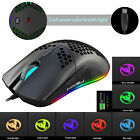 RGB LED Ergonomic Wired/Wireless Gaming Mouse Adjustable DPI Mice for PC Laptop