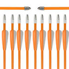 27inch Fiberglass Arrows Kid Youth Toy Bow Shooting Hunting Practice 12pcs