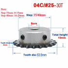 """For #25 Chain Drive Sprocket Wheel 04C 30T Bore 6-20mm Keyway D-hole Pitch 1/4"""""""