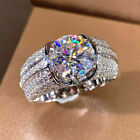 Fashion 925 Silver Rings For Women White Sapphire Jewelry Gift Size 5-10