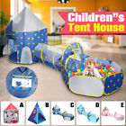Portable Toddler Kid Play Tent House Crawl Tunnel 3 in 1 Playpen Pit With Ball