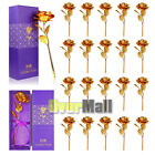 20x 24K Gold Dipped Real Artificial Rose in Beautiful Gift Box Valentine