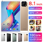 2021 New 8.1'' Inch Dual Sim Tablet Pc 10+512gb Android 10.0 With Triple Cameras