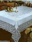 CROCHET LACE VINYL TABLECLOTH, VINTAGE LOOK