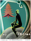 """375.Cuban Quality Interior Design Deco poster""""Naked Lady looking at Xmas tree"""""""