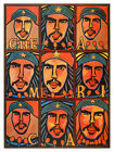 811.Cuban Quality  interior Design Political POSTER.Many Che Guevara art Faces