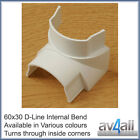 D-Line 60x30 Internal Bend for TV Cable Covers Trunking