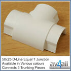 D-Line 50x25 Equal T Junction for Cable Wire Tidy Cover