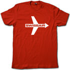 SWISSAIR Vintage Feeling Airline T-Shirt • Retro Super-Soft Airplane Graphic Tee image