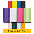 30 CELLOPHANE PARTY(Loot)BAGS - Coloured & Clear Cello Gift Sweet Treat Birthday