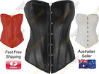 Corset Top Ladies Soft Faux Leather Sweetheart Bust Steampunk Gothic Punk