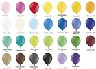 "100 plain Latex 10"" Party Balloons Choose own colour mix from 27 colours"