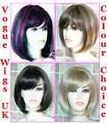 Bob Style Short Ladies Wig Black Brown Blonde Lady Wig