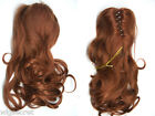 Kayla 14 in Long Luxurious Loose Layered Curls Human Hair Claw-Clip Hair Pieces