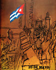 1583.May 20th Independence of Cuba vintage Poster.Patriotic Decorative Art.