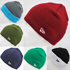 NEW ERA STRAIGHT KNIT/ ROLL UP BEANIE HAT CAP RED NAVY+