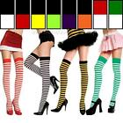 Sexy Opaque Striped Thigh Hi Nylon Stockings High Trouser Sock Hosiery Halloween