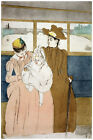 2973 Two ladies and a baby. Vintage POSTER. Decorative  Art. Designers shop here