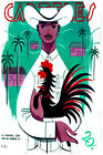 3003.Guayabera fashion POSTER.Man with rooster cock.Home decor interior room art