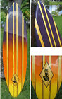 Tropical Style Decorative Wooden Surfboard Wall Art Coastal Beach Home Decor