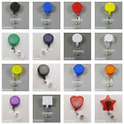 10 X Reels Retractable Badge Clip ID Card Holder Solid Clear all new