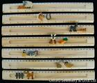 HANDMADE INLAID WOODEN RULER WITH SLIDING ANIMAL CHOOSE DESIGN