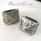 CR2124 Gothic Punk Design Pyramid Heavy Metallic Ring Bronze/ Silver/ Gold Tone