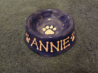 Custom Personalized Ceramic Pet Dog Cat Food Bowl Dish Hand Painted