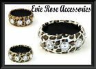 NEW LARGE DIAMANTE STUD & METALLIC ANIMAL PRINT FAUX LEATHER CHUNKY WIDE BANGLE