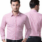 Plaid Style Hot Mens Casual Long Sleeve Shirts Slim fit Stylish Luxury
