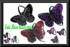 NEW HUGE LARGE SEQUIN BUTTERFLY APPLIQUE FASCINATOR HAIR  HEAD ALICE BAND