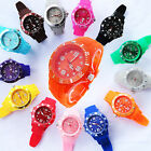 12 Color Fashion Silicone Stylish Design Quartz Sport Wrist Band Watch