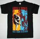 GUNS N ROSES USE YOUR ILLUSION SLASH AXL ROSE POISON RATT NEW BLACK T-SHIRT