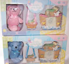 3 PC Baby Gift Set Noah's Ark Photo Frame, Baby Sleeping Hanger & Teddy Bear NEW