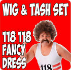 118 FANCY DRESS WIG & TASH SET MOUCHTASH SUPER QUICK DISPATCH IN FROM STOCK