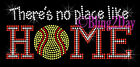 Softball - No Place Like Home - Rhinestone Iron on Transfer Hot Fix Bling Mom