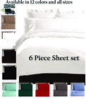 Sheets Pillowcases - 2100 LUXURY BAMBOO SERIES DEEP POCKET 6 PIECE BED SOFT SHEET SET ALL SIZES
