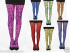 FUNKY HENNA TATTOO TIGHTS PRINT  FLO NEON 7 COLOURS TO CHOOSE FROM - ONE SIZE