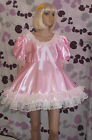 short adult baby dress Fancy dress sissy lolita cosplay wide lace 2 row skirt