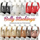 Sparkly Glitter Sequin Shiny Sheer BELLY STOCKING™ Mesh Dance Body with Sleeves