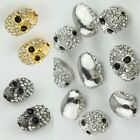WHOLESALE LOTS SKULL CRYSTAL SPACER  BEADS FINDINGS FOR DIY BRACELETS JEWELRY