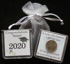 PERSONALISED GRADUATION GIFT LUCKY SIXPENCE GOOD LUCK
