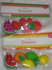 Strawberry  Party Favors 6pc Erasers Cute Sets Strawberry or Lemon