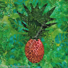 Tropical PINEAPPLE~ Hawaiian Batik Fabric Quilt Panel Block~ Hawaii