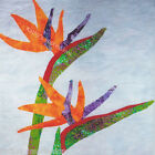 Tropical BIRD OF PARADISE Flowers~Hawaiian Batik Fabric Quilt Panel Block Hawaii