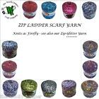ZIP LADDER SCARF KNITTING YARN - 50g ball - knits as Firefly - various shades