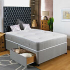 "5FT KINGSIZE DIVAN BED +11"" POCKET SPRUNG MATTRESS + HEADBOARD/DRAWERS SALE"