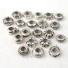 Free Postage 10x Silver Plated Stopper Rubber Charms Beads Snake Bracelet
