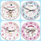 GIRLS PERSONALISED BEDROOM NURSERY WALL CLOCK Cute Birthday Christmas Gift Idea