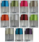 Diamond Cut Acrylic Crystal Ball Table Lamp with Faux Silk Empire Lampshade NEW